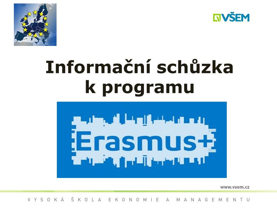Informační schůzka k programu