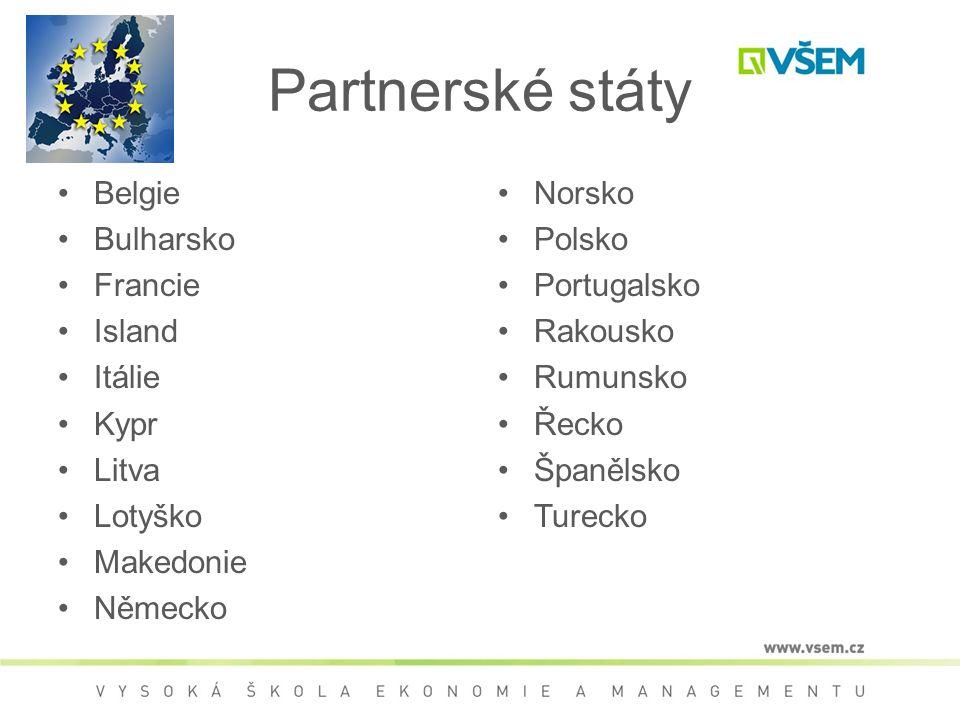Partnerské státy Belgie Bulharsko Francie Island Itálie Kypr Litva Lotyško Makedonie Německo Norsko Polsko Portugalsko Rakousko Rumunsko Řecko Španělsko Turecko