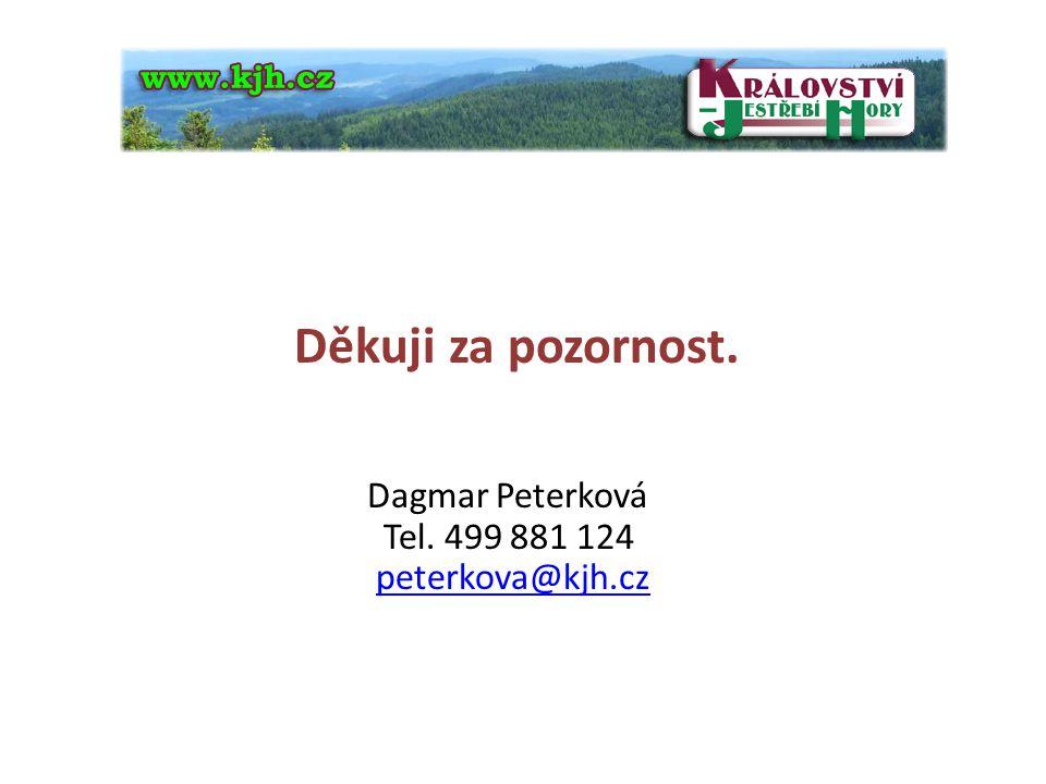 Děkuji za pozornost. Dagmar Peterková Tel. 499 881 124 peterkova@kjh.czpeterkova@kjh.cz