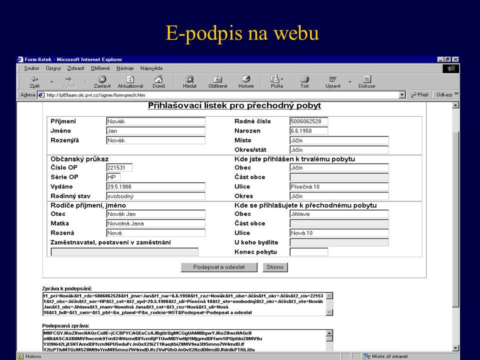 E-podpis na webu