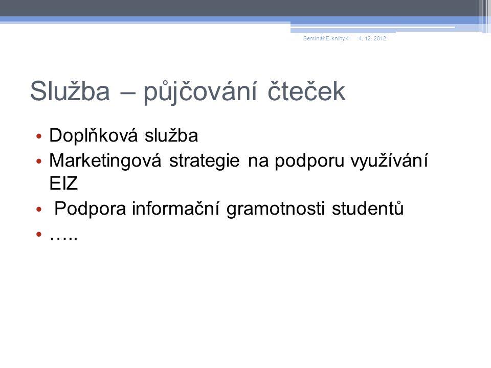 Děkuji za pozornost ilona.trtikova@uk.cvut.cz 4. 12. 2012Seminář E-knihy 4