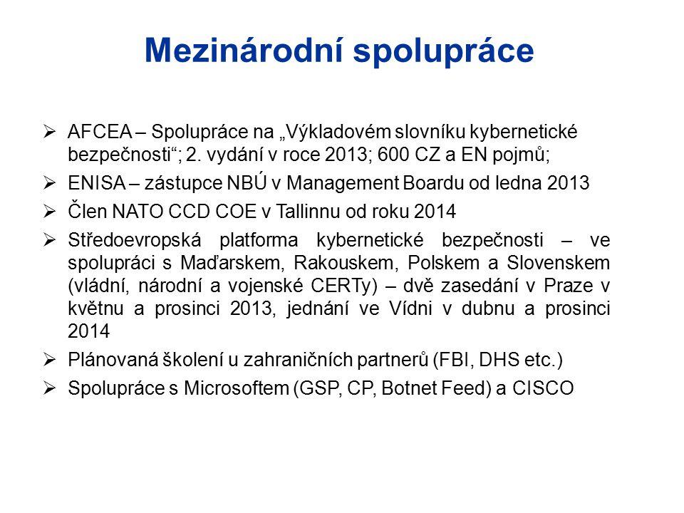 """ AFCEA – Spolupráce na """"Výkladovém slovníku kybernetické bezpečnosti""""; 2. vydání v roce 2013; 600 CZ a EN pojmů;  ENISA – zástupce NBÚ v Management"""