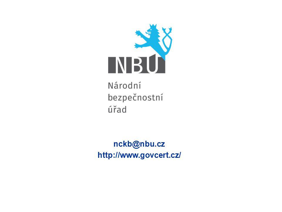 nckb@nbu.cz http://www.govcert.cz/