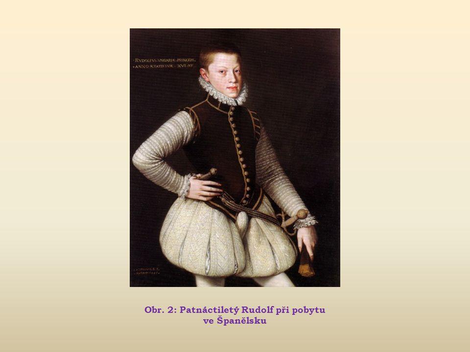 Rudolf II. Život a vláda panovníka (1576 – 1611)  do 1563 vychováván na císařském dvoře ve Vídni  1563 poslán na výchovu do Španělska, kde se měl st