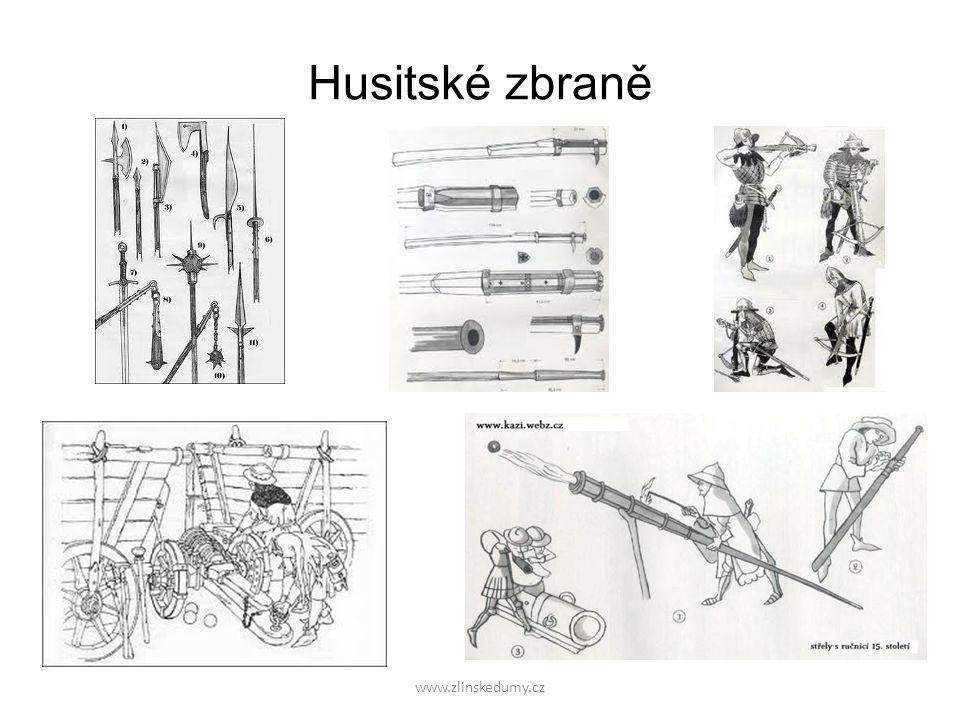 Husitské zbraně www.zlinskedumy.cz