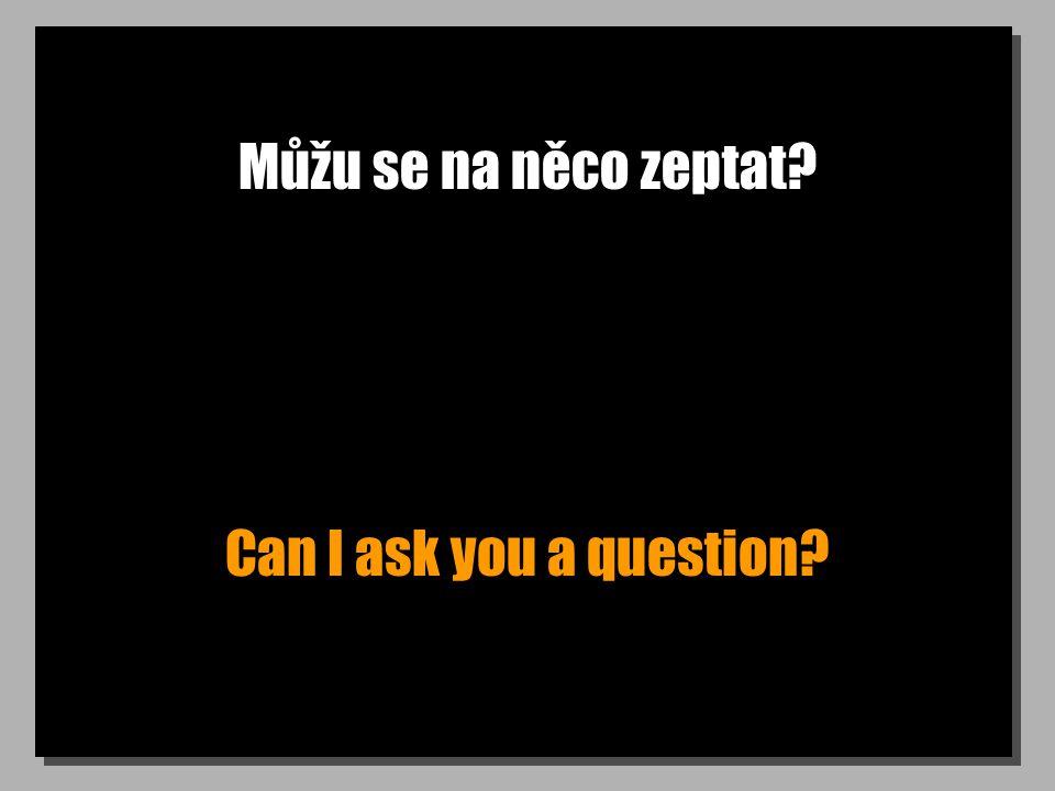 Můžu se na něco zeptat Can I ask you a question