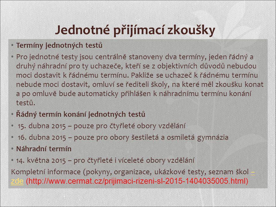 Organizace vyplňování přihlášek Přihlášky se tisknou ve škole.