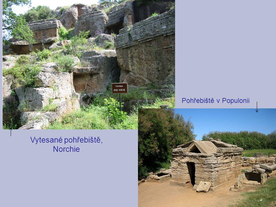 Vytesané pohřebiště, Norchie Pohřebiště v Populonii