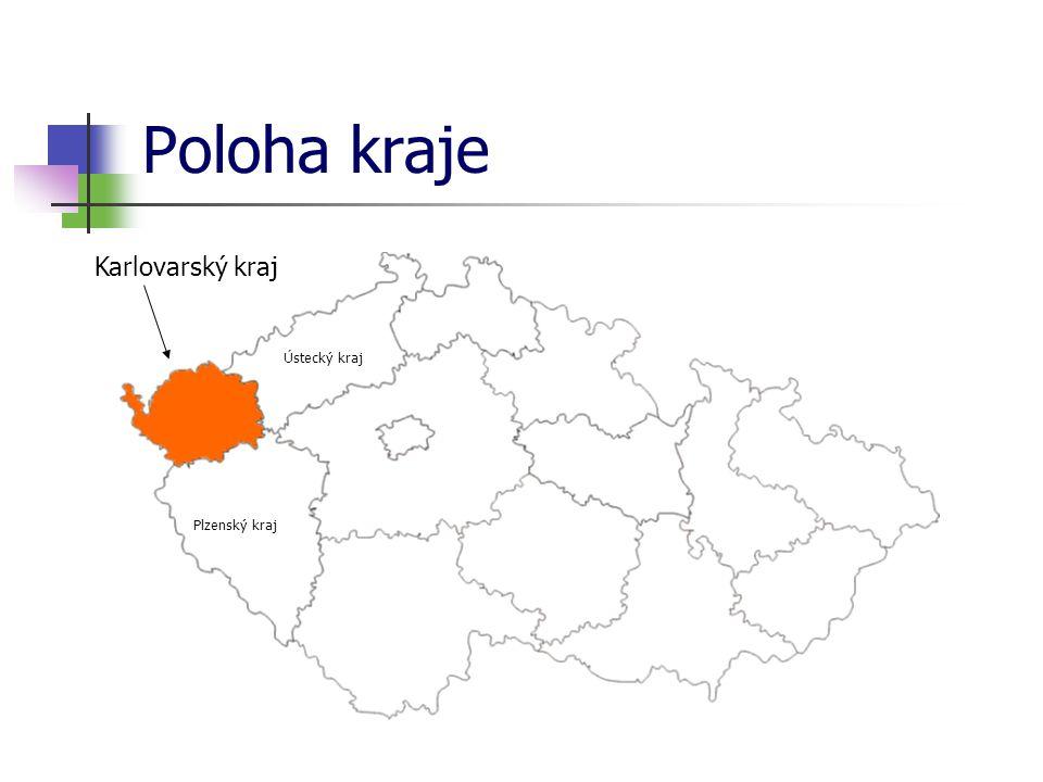 Poloha kraje Ústecký kraj Plzenský kraj Karlovarský kraj
