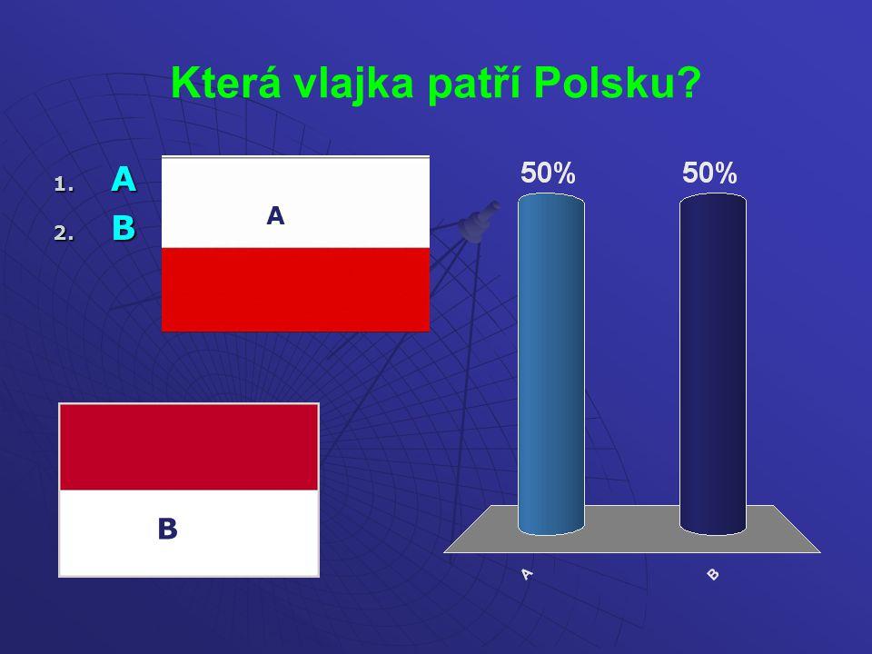 Která vlajka patří Polsku? 1. A 2. B A B
