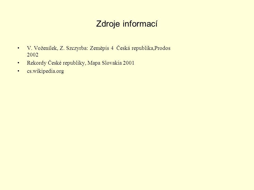 Zdroje informací V.Voženílek, Z.