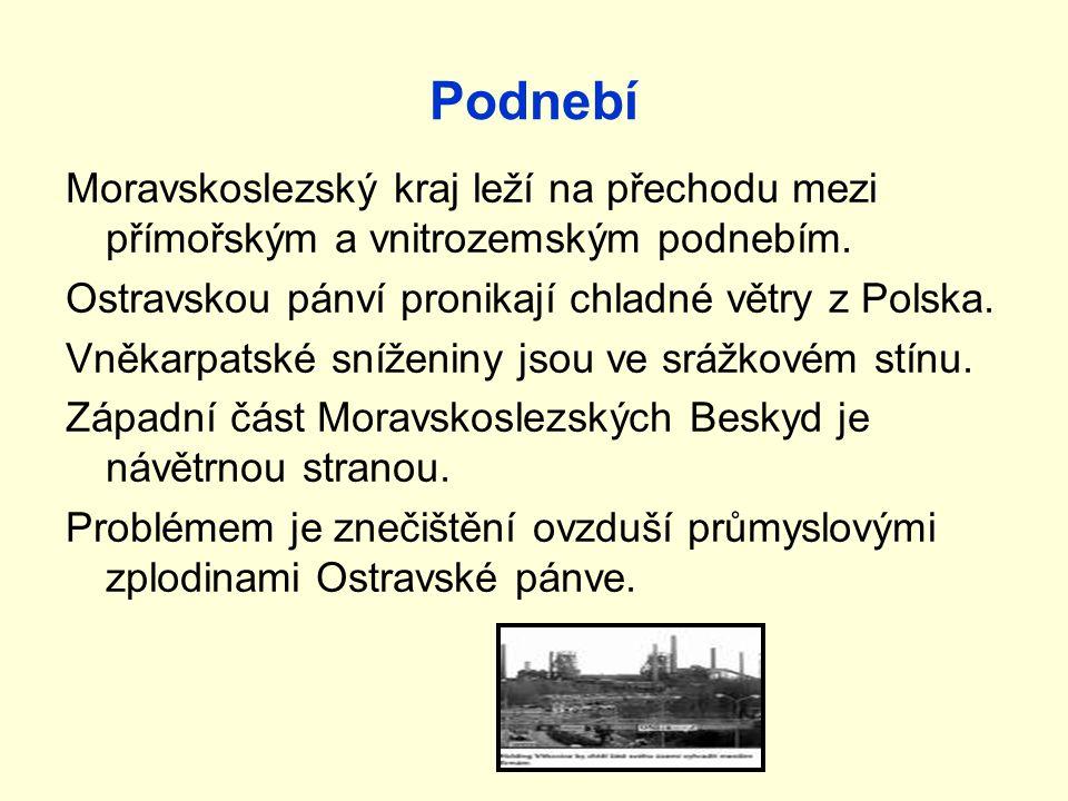 3 Podnebí Moravskoslezský kraj leží na přechodu mezi přímořským a vnitrozemským podnebím.