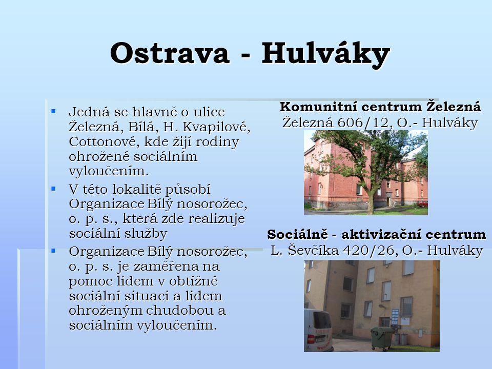 Ostrava - Hulváky  Jedná se hlavně o ulice Železná, Bílá, H.