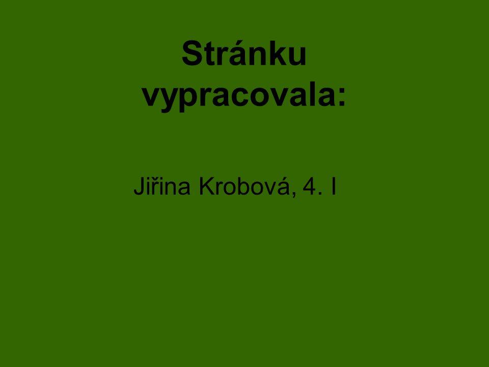 Stránku vypracovala: Jiřina Krobová, 4. I