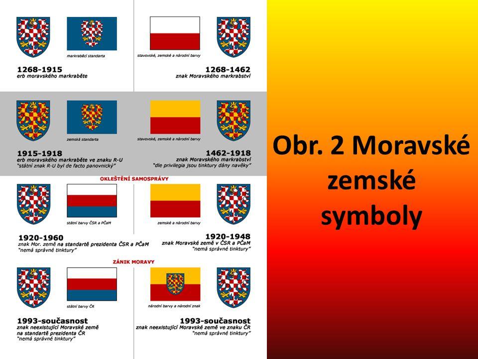 Obr. 2 Moravské zemské symboly