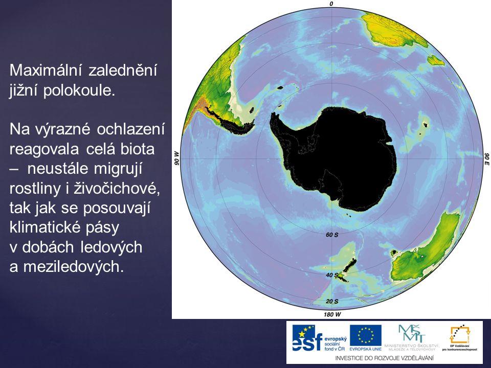 V předledovcových zónách bylo suché mrazivé klima – mrazové zvětrávání a odnos materiálu větrem i vodou.