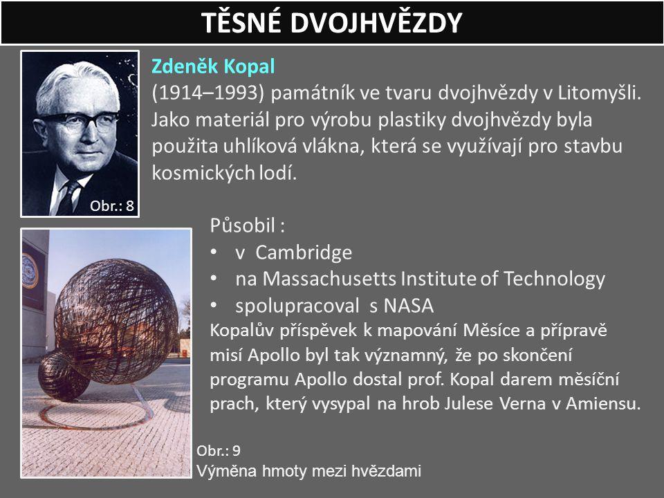 Zdeněk Kopal (1914–1993) památník ve tvaru dvojhvězdy v Litomyšli. Jako materiál pro výrobu plastiky dvojhvězdy byla použita uhlíková vlákna, která se