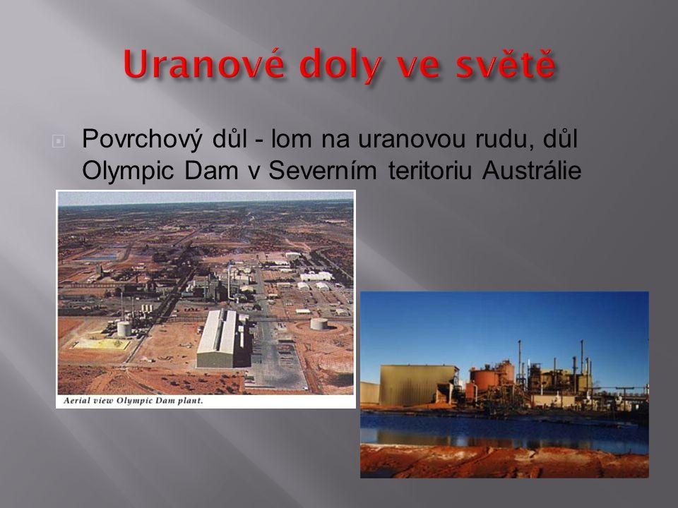  Povrchový důl - lom na uranovou rudu, důl Olympic Dam v Severním teritoriu Austrálie