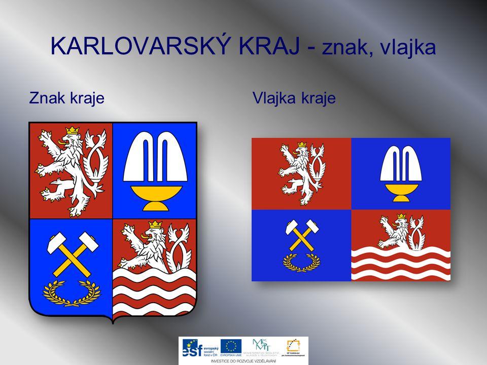 KARLOVARSKÝ KRAJ - znak, vlajka Znak krajeVlajka kraje