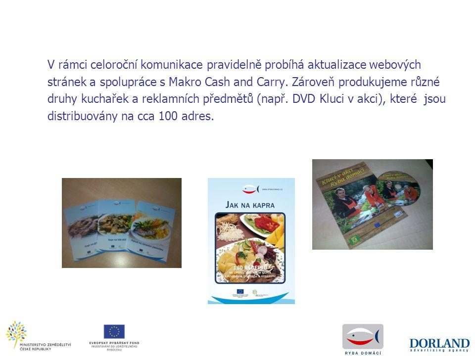 V rámci celoroční komunikace pravidelně probíhá aktualizace webových stránek a spolupráce s Makro Cash and Carry. Zároveň produkujeme různé druhy kuch