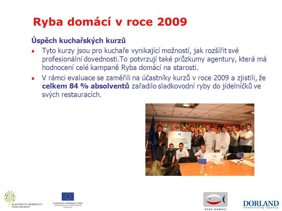 Ryba domácí v roce 2009 Úspěch kuchařských kurzů ■ Tyto kurzy jsou pro kuchaře vynikající možností, jak rozšířit své profesionální dovednosti.To potvr