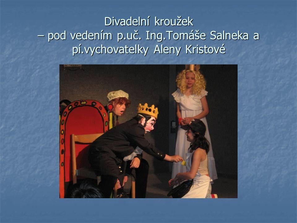 Divadelní kroužek – pod vedením p.uč. Ing.Tomáše Salneka a pí.vychovatelky Aleny Kristové