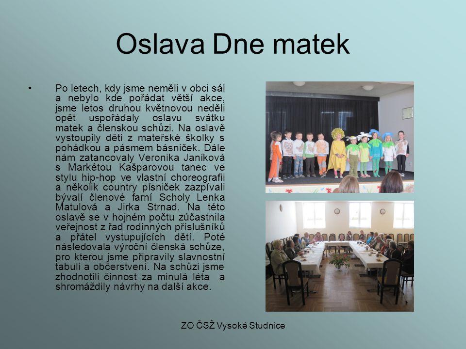 ZO ČSŽ Vysoké Studnice Kavárnička pro ženy a dívky Na podzim roku 2004 jsme začaly pořádat tzv.