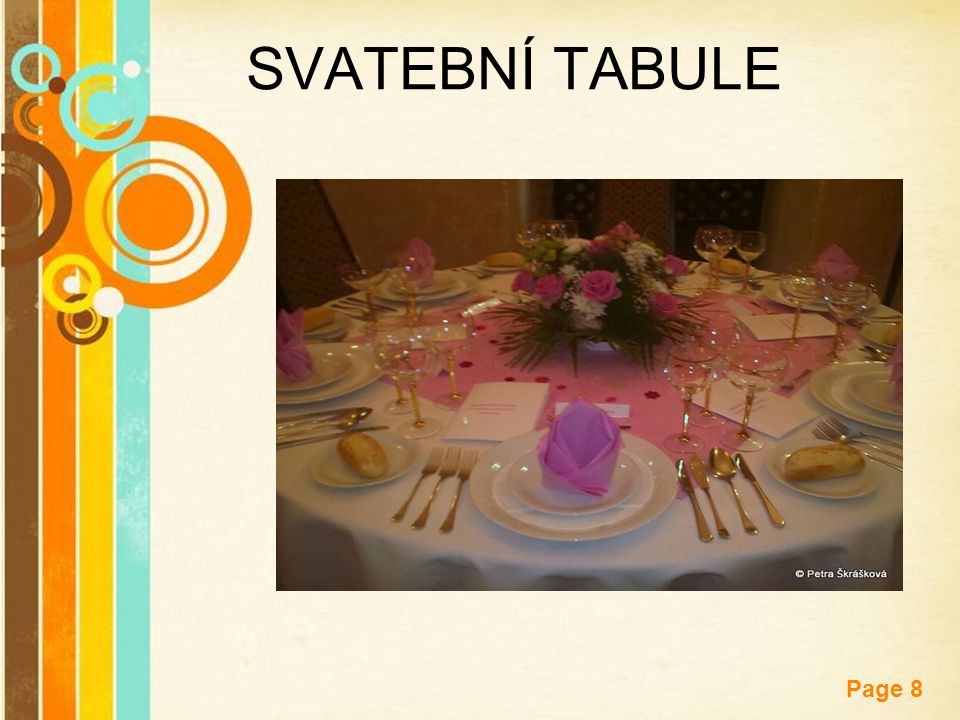 Free Powerpoint Templates Page 8 SVATEBNÍ TABULE