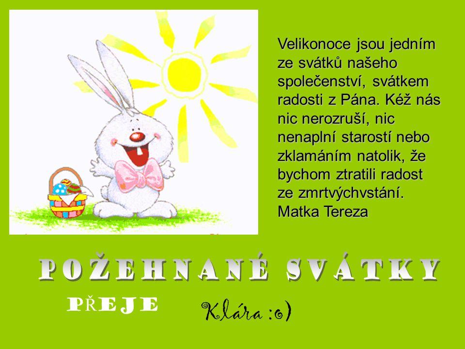 Velikonoce jsou jedním ze svátků našeho společenství, svátkem radosti z Pána. Kéž nás nic nerozruší, nic nenaplní starostí nebo zklamáním natolik, že