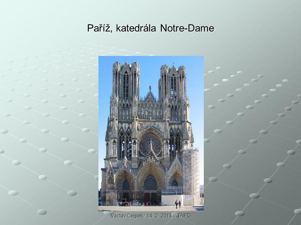 Paříž, katedrála Notre-Dame Václav Cejpek / 14. 2. 2014 // TAPD