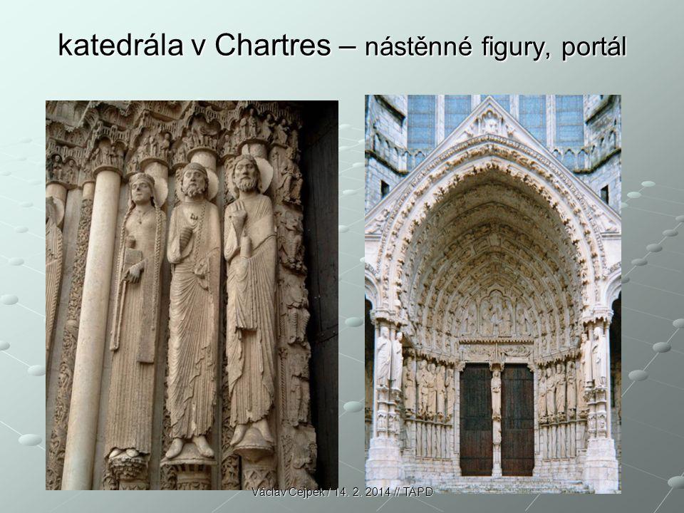katedrála v Chartres – nástěnné figury, portál Václav Cejpek / 14. 2. 2014 // TAPD