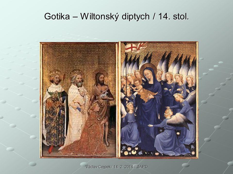 Gotika – Wiltonský diptych / 14.stol. Wiltonský diptych (Madona) 14.