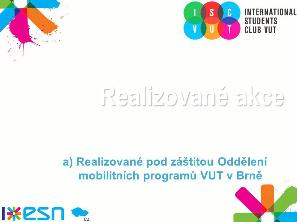 Realizované akce a) Realizované pod záštitou Oddělení mobilitních programů VUT v Brně