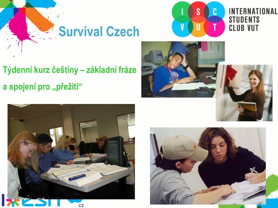 """Survival Czech Týdenní kurz češtiny – základní fráze a spojení pro """"přežití"""