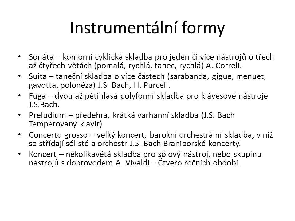 Vokálně-instrumentální skladby Opera – zpěvohra (C.