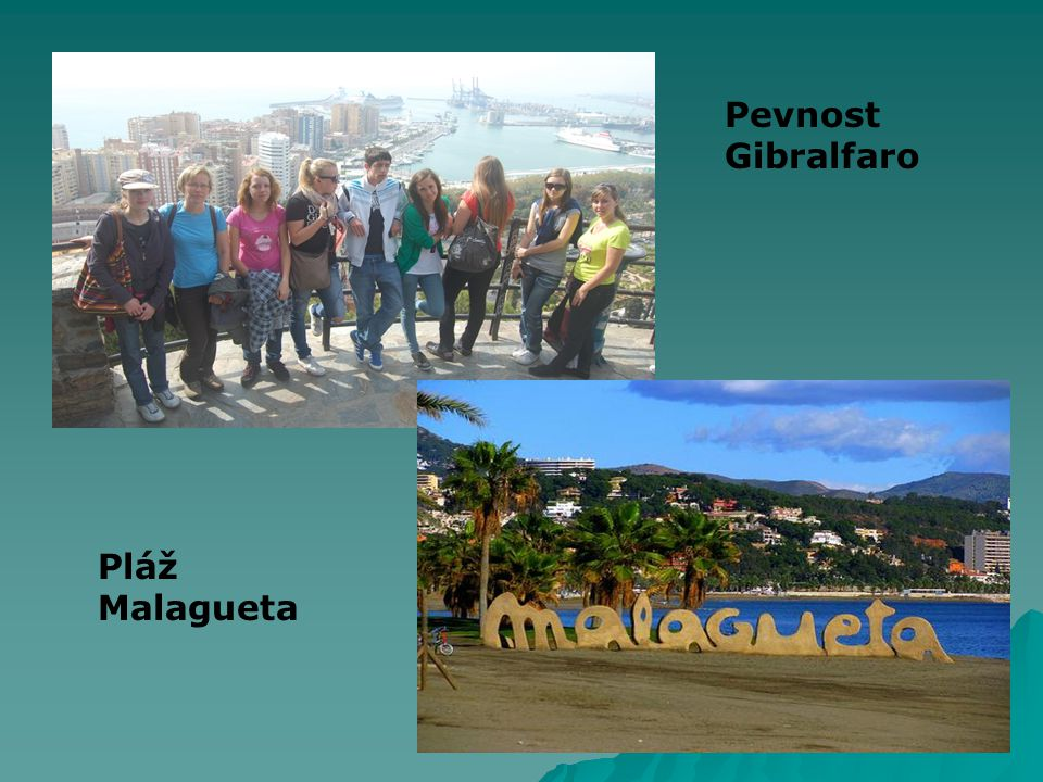 Pláž Malagueta Pevnost Gibralfaro