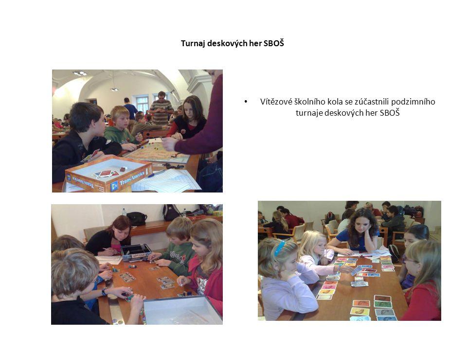 Turnaj deskových her SBOŠ Vítězové školního kola se zúčastnili podzimního turnaje deskových her SBOŠ