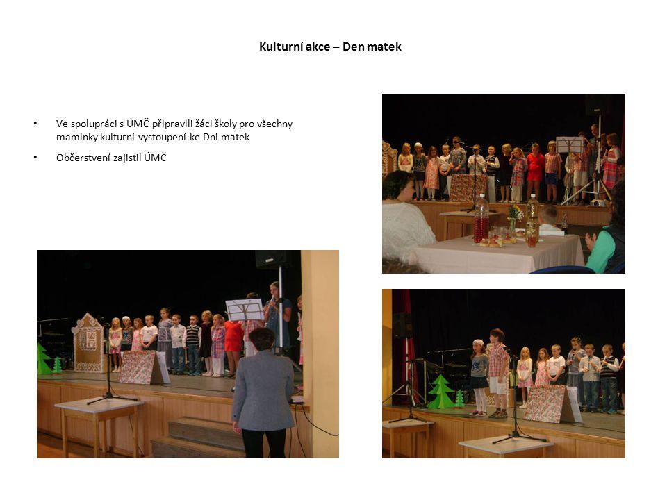 Kulturní akce – Den matek Ve spolupráci s ÚMČ připravili žáci školy pro všechny maminky kulturní vystoupení ke Dni matek Občerstvení zajistil ÚMČ