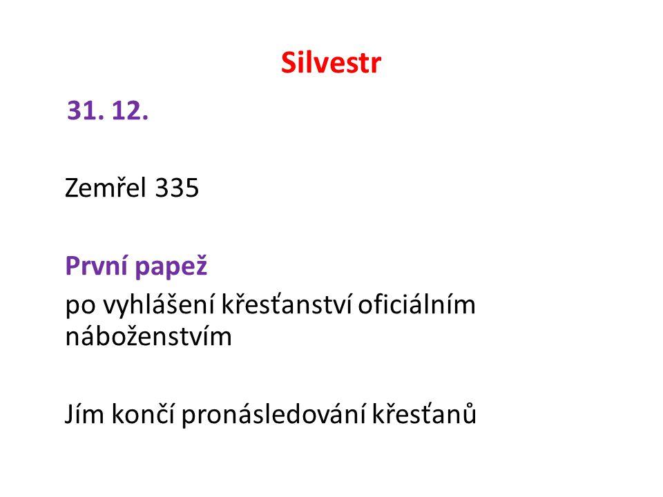 Silvestr 31. 12.