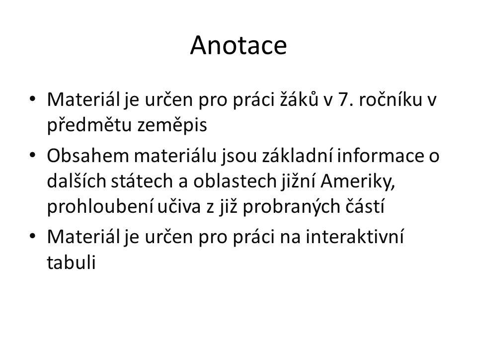 Anotace Materiál je určen pro práci žáků v 7.