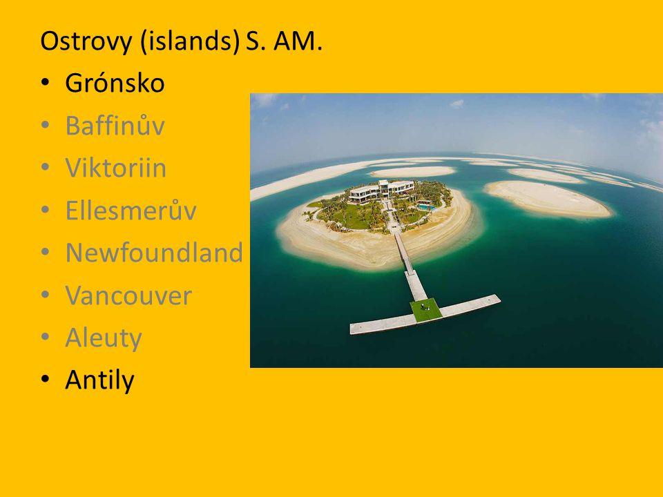 Ostrovy J. Am. Fernando de Noronha Ohňová Země Chiloé Chonos Galapágy Velikonoční Faklandy