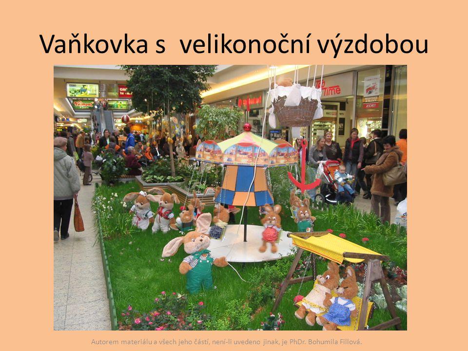 Vaňkovka s velikonoční výzdobou Autorem materiálu a všech jeho částí, není-li uvedeno jinak, je PhDr. Bohumila Fillová.