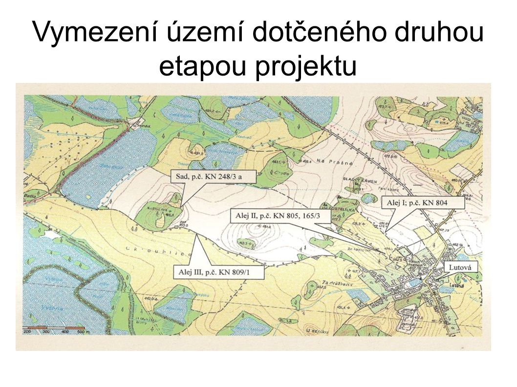 Vymezení území dotčeného druhou etapou projektu