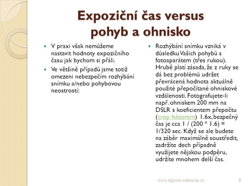 EV hodnota Expoziční automatika DSLR je schopná pracovat jen v určitém rozsahu jasů.