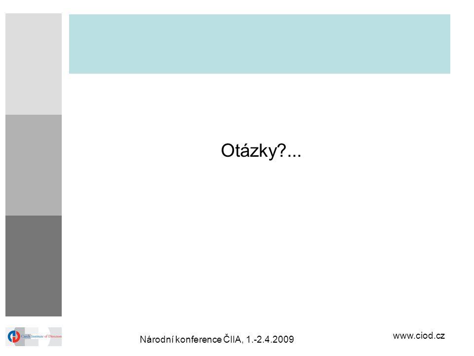 www.ciod.cz Národní konference ČIIA, 1.-2.4.2009 Otázky?...