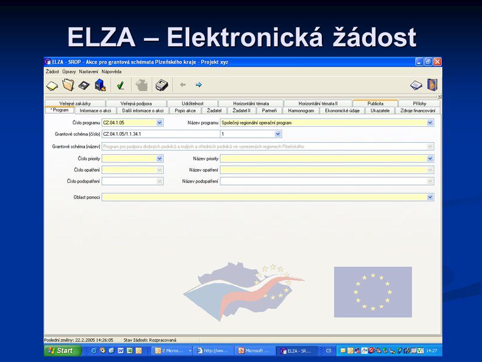 ELZA – Elektronická žádost