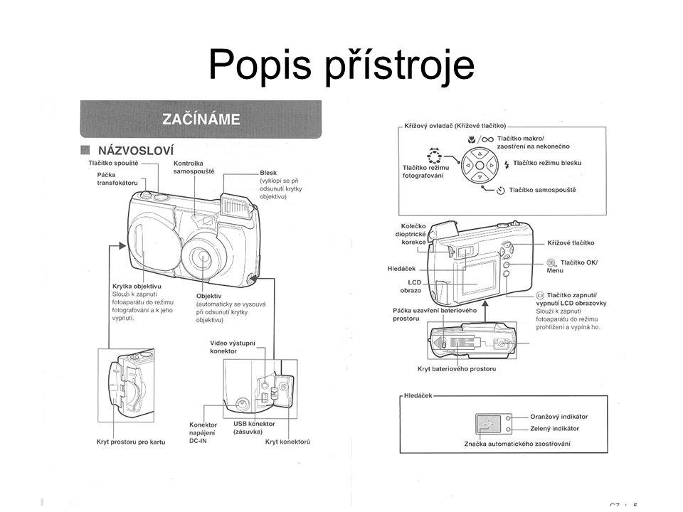 Popis přístroje