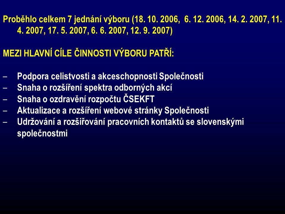 Jubilanti ČSEKFT v roce 2007 75 let Prof.MUDr.Vladislav Eybl DrSc.
