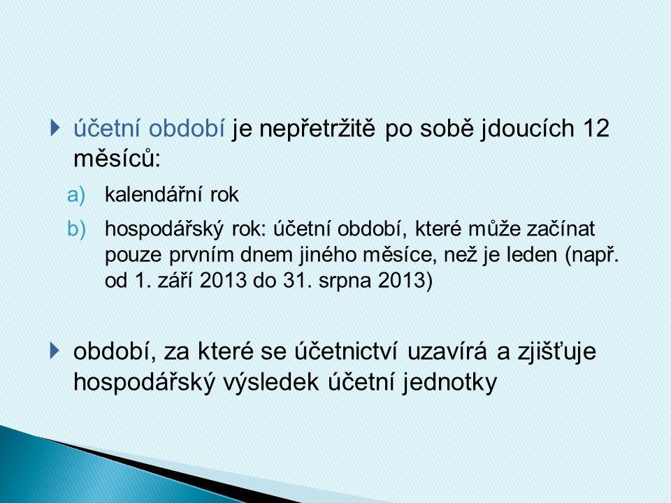  účetnictví se vede v české měně (účetní operace se např.