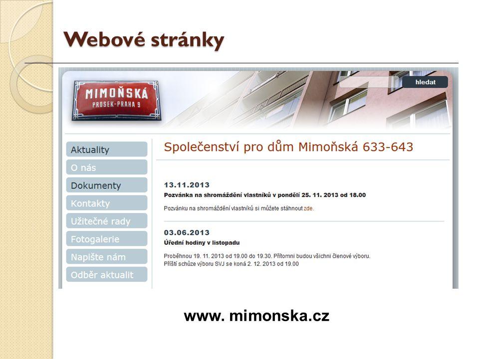 www. mimonska.cz Webové stránky